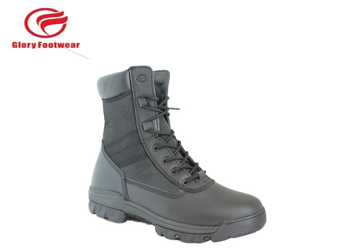 Stitching S1 / S1P Standard Leather Military Boots , Black Desert Tactical Boots For Men