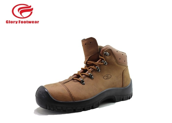Protective Steel Toe Leather Safety Shoes Puncture Penetration Resistant For Women / Men