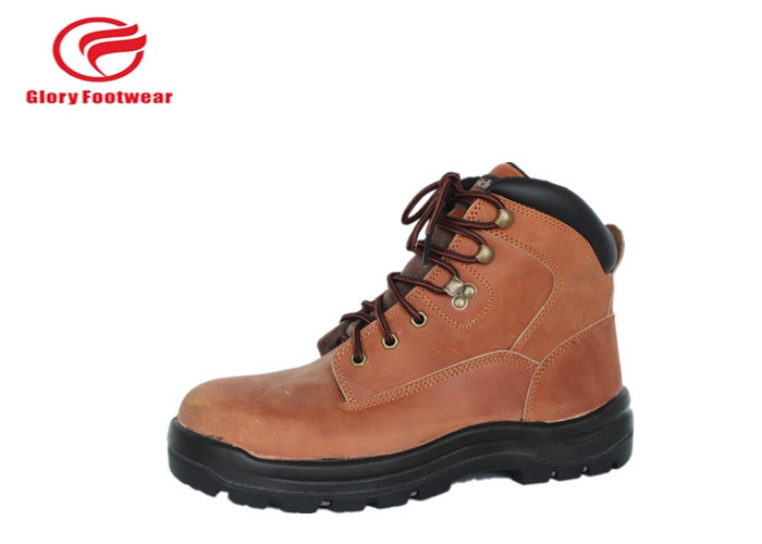 Men Pu Sole Safety Shoes For Hard Place , Water Resistant Steel Sole Safety Boots