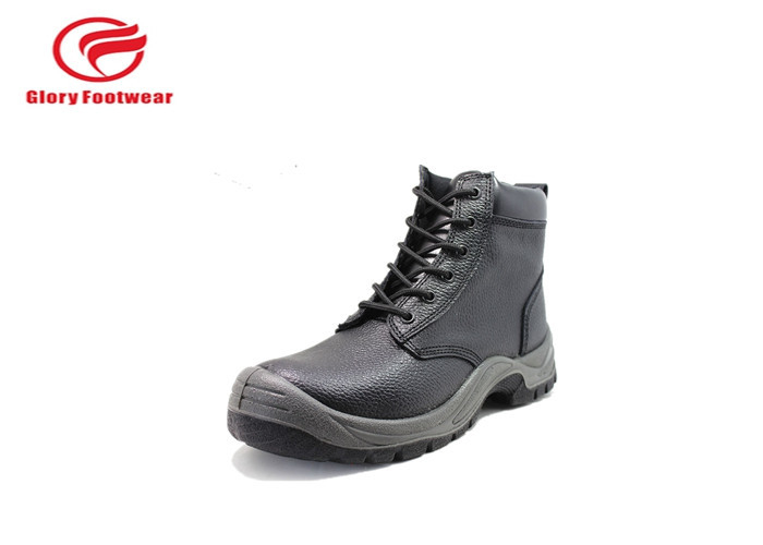 Men Split Leather Safety Shoes For Chemical Industry 1.8 - 2.0MM Mesh Lining