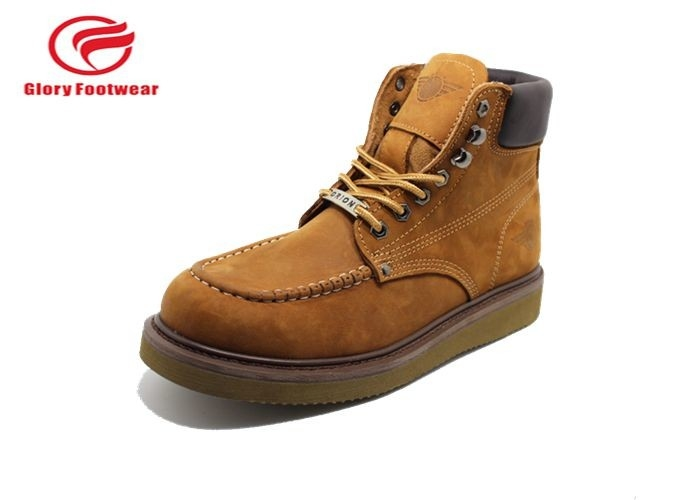 Lightweight Goodyear Welt Safety Shoes With EVA Outsole Anti-Smashing Mens