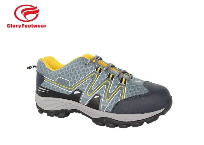 Comfortable Lightweight Steel Toe Sneakers With Rubber Outsole Wear Resisting