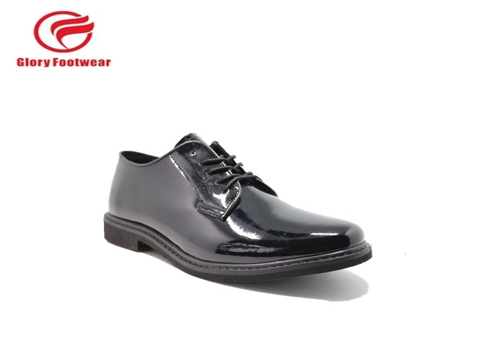 Breathable Mesh Lining Black Leather Uniform Shoes By Shining Microfiber Womens
